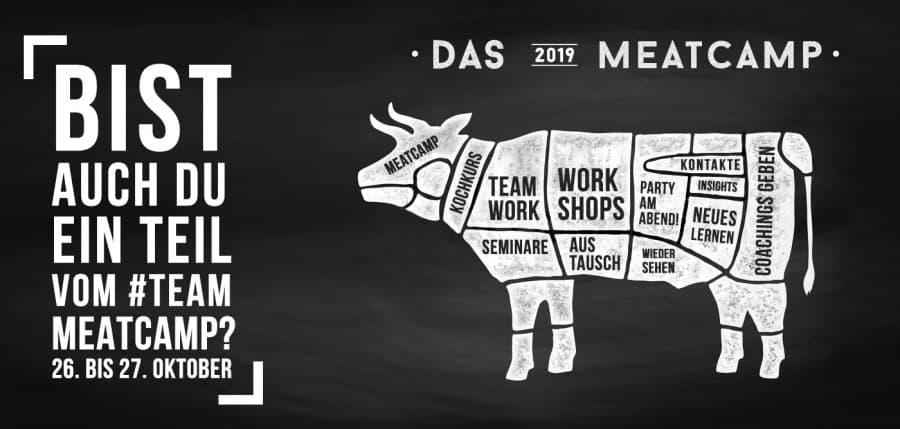 Bist auch du ein Teil vom #Team Meatcamp? Vom 26. bis 27. Oktober,