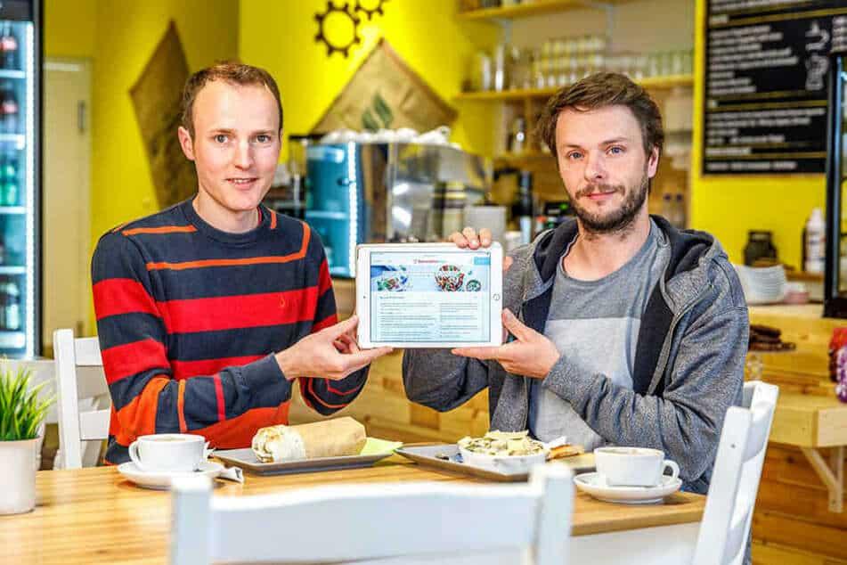 Gründer der SpeiseplanApp Martin Bruck und Manuel Gillner